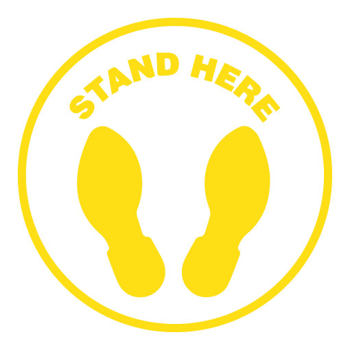 Stand here (Yellow)