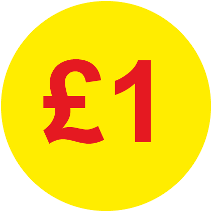 £1 Round Price Labels