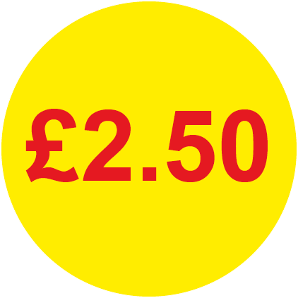 £2.50 Round Price Labels