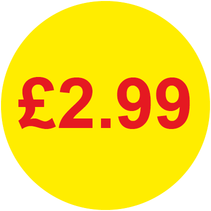 £2.99 Round Price Labels