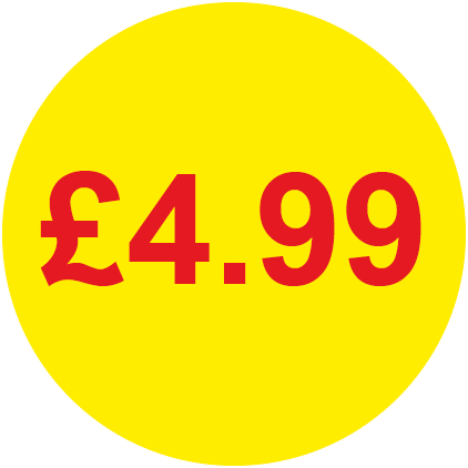 £4.99 Round Price Labels