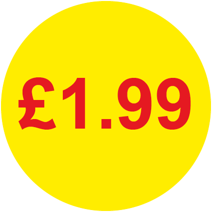 £1.99 Round Price Labels