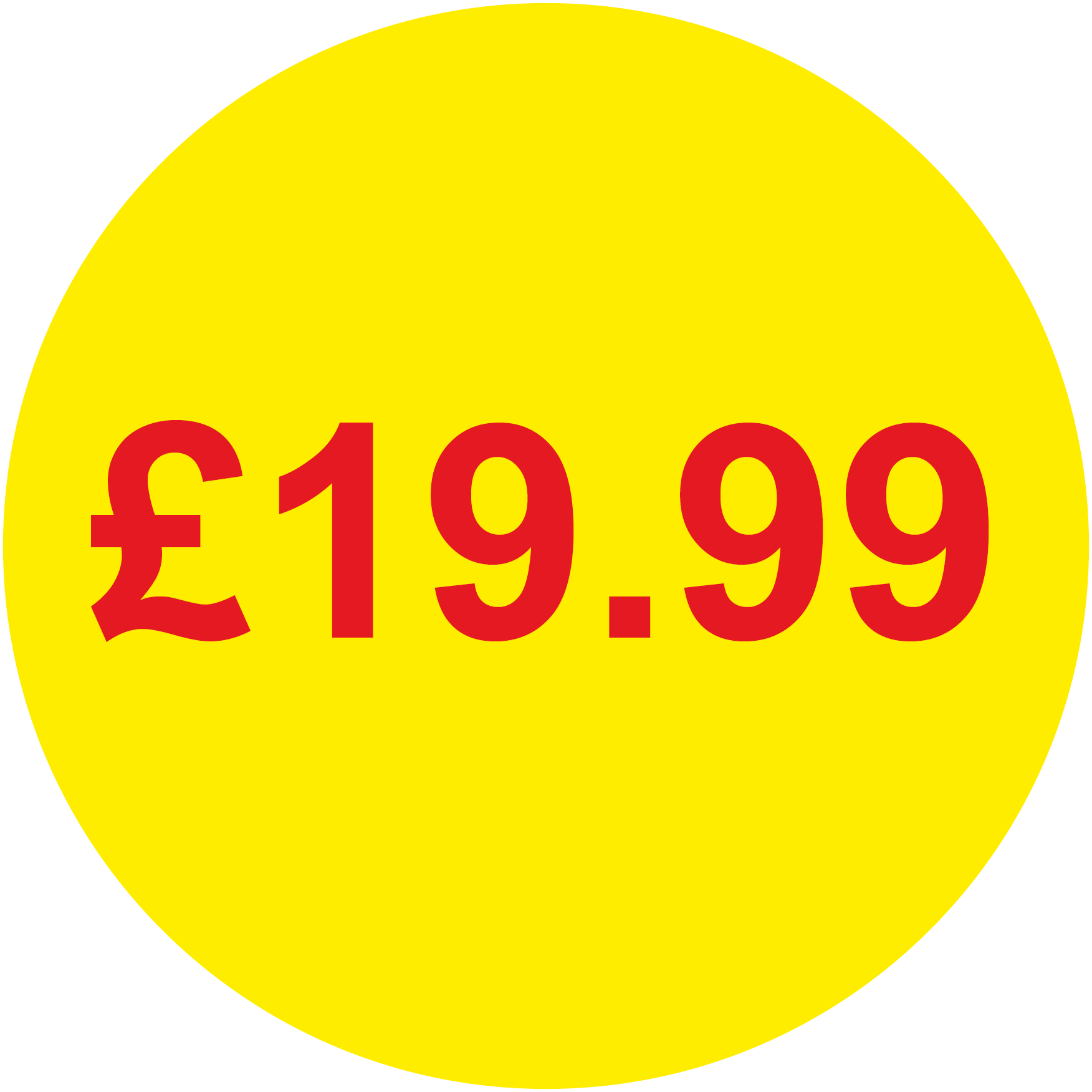 £19.99 Round Price Labels