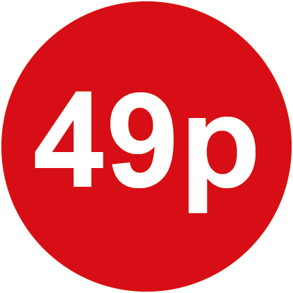 49p Round Price Labels Red