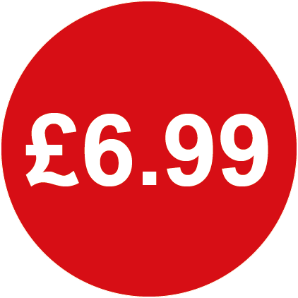 £6.99 Round Price Labels Red