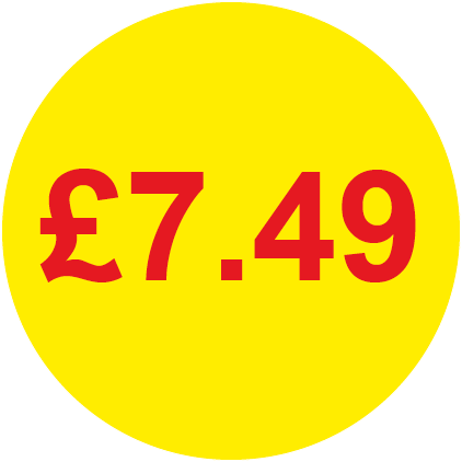 £7.49 Round Price Labels
