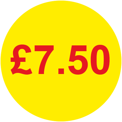 £7.50 Round Price Labels