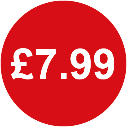 £7.99 Round Price Labels Red