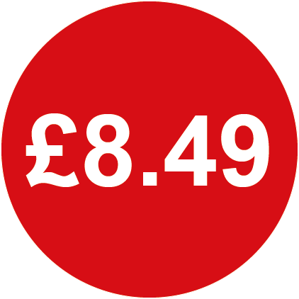 £8.49 Round Price Labels Red