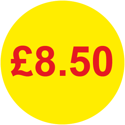 £8.50 Round Price Labels