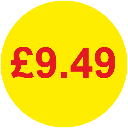 £9.49 Round Price Labels