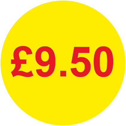 £9.50 Round Price Labels