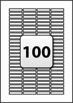 100 tamper evident labels per a4 sheet 37 mm x 7 mm for Label template 65 per sheet