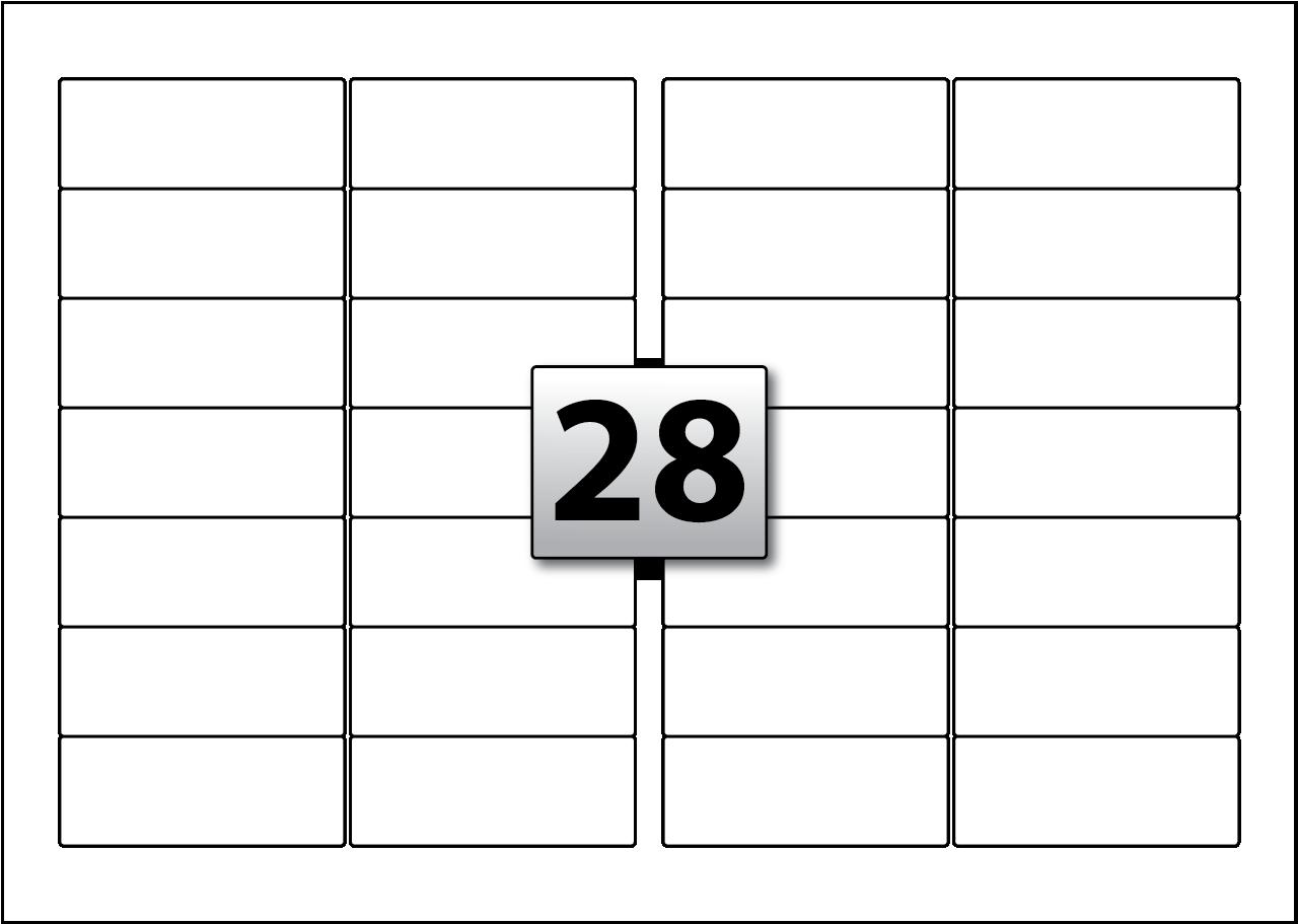 28 Rectangle Labels per SRA3 sheet 99.1 mm x 38.1 mm - Flexi Labels