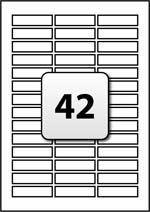 42 Rectangle Labels per A4 sheet 56 mm x 14.5 mm