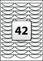 42 Labels per A4 Sheet, 63.8 mm x 16.3 mm