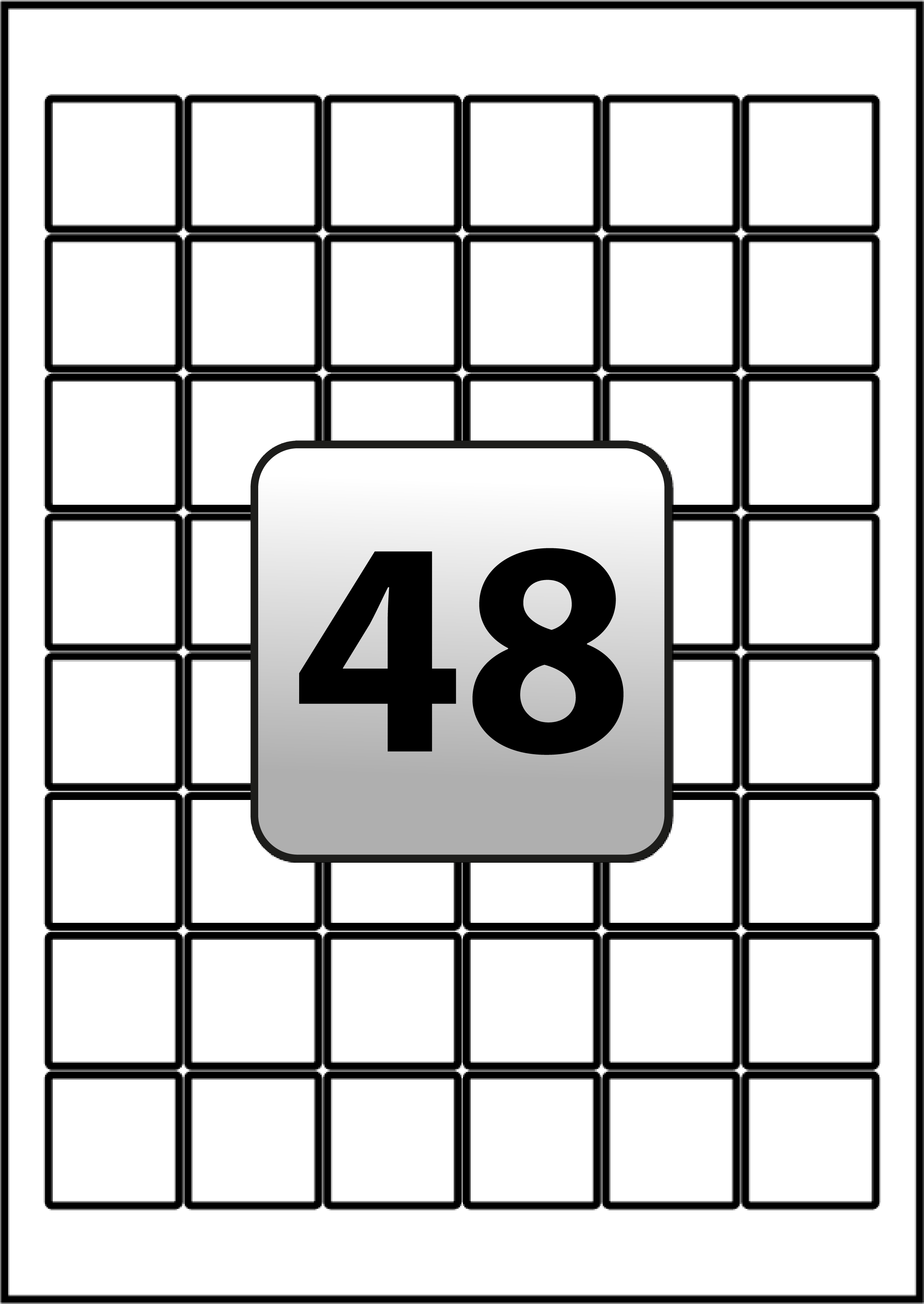 48 inkjet printer labels per a4 sheet 30 mm x 30 mm