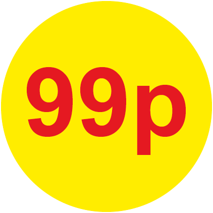 99p Round Price Labels