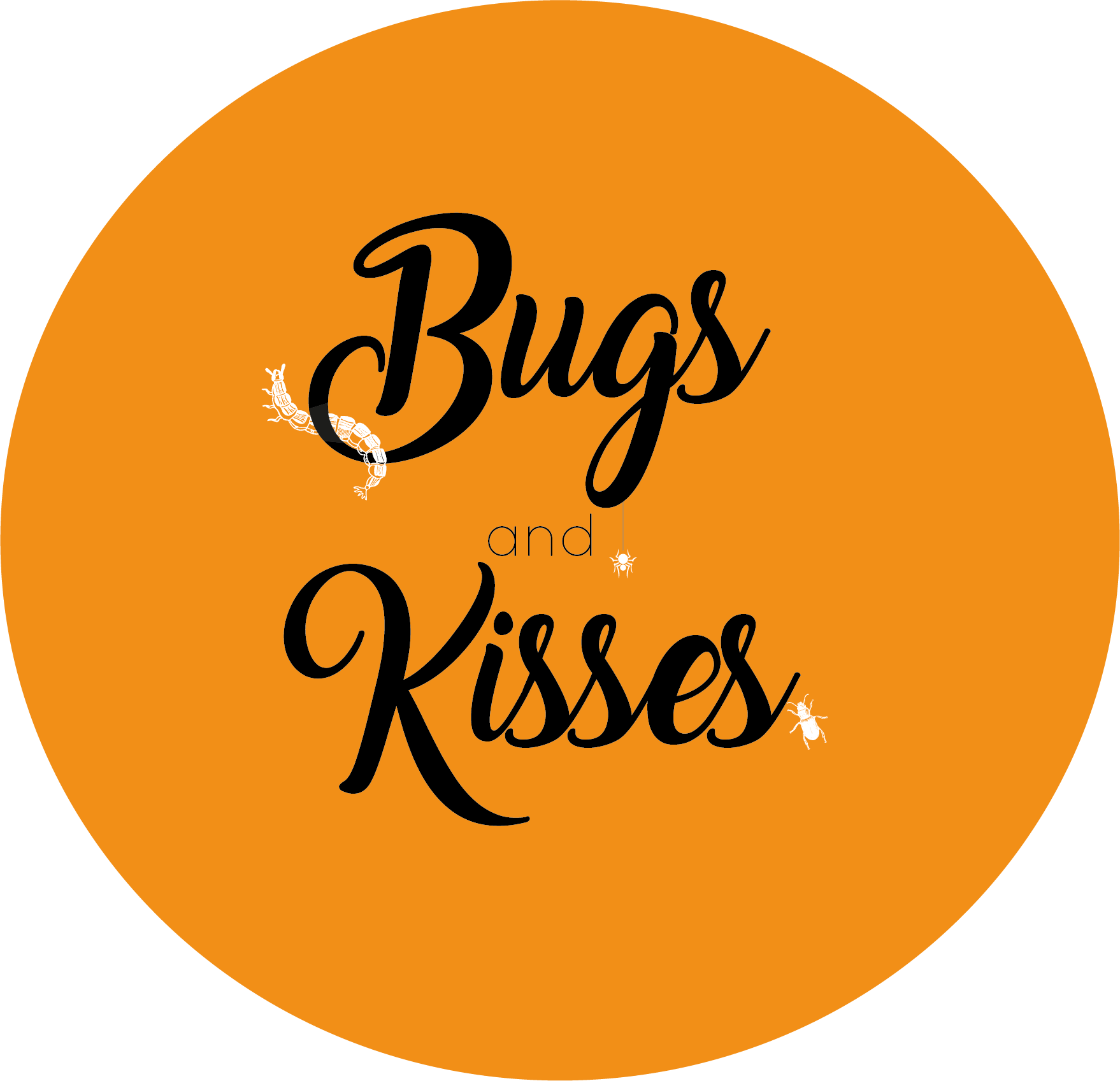 Orange Bugs and Kisses Halloween Themed Stickers
