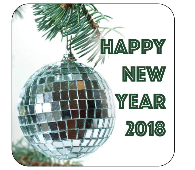 Disco Ball Bauble New Year Themed Stickers