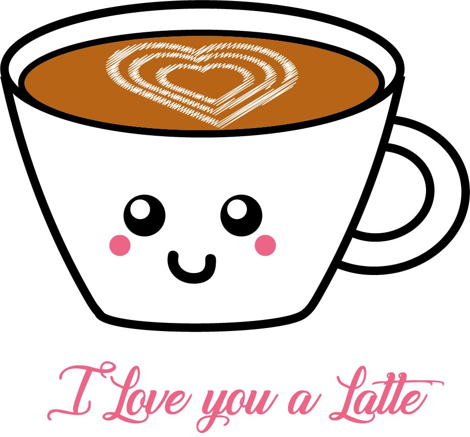 I Love You A Latte Valentines Day Themed Stickers