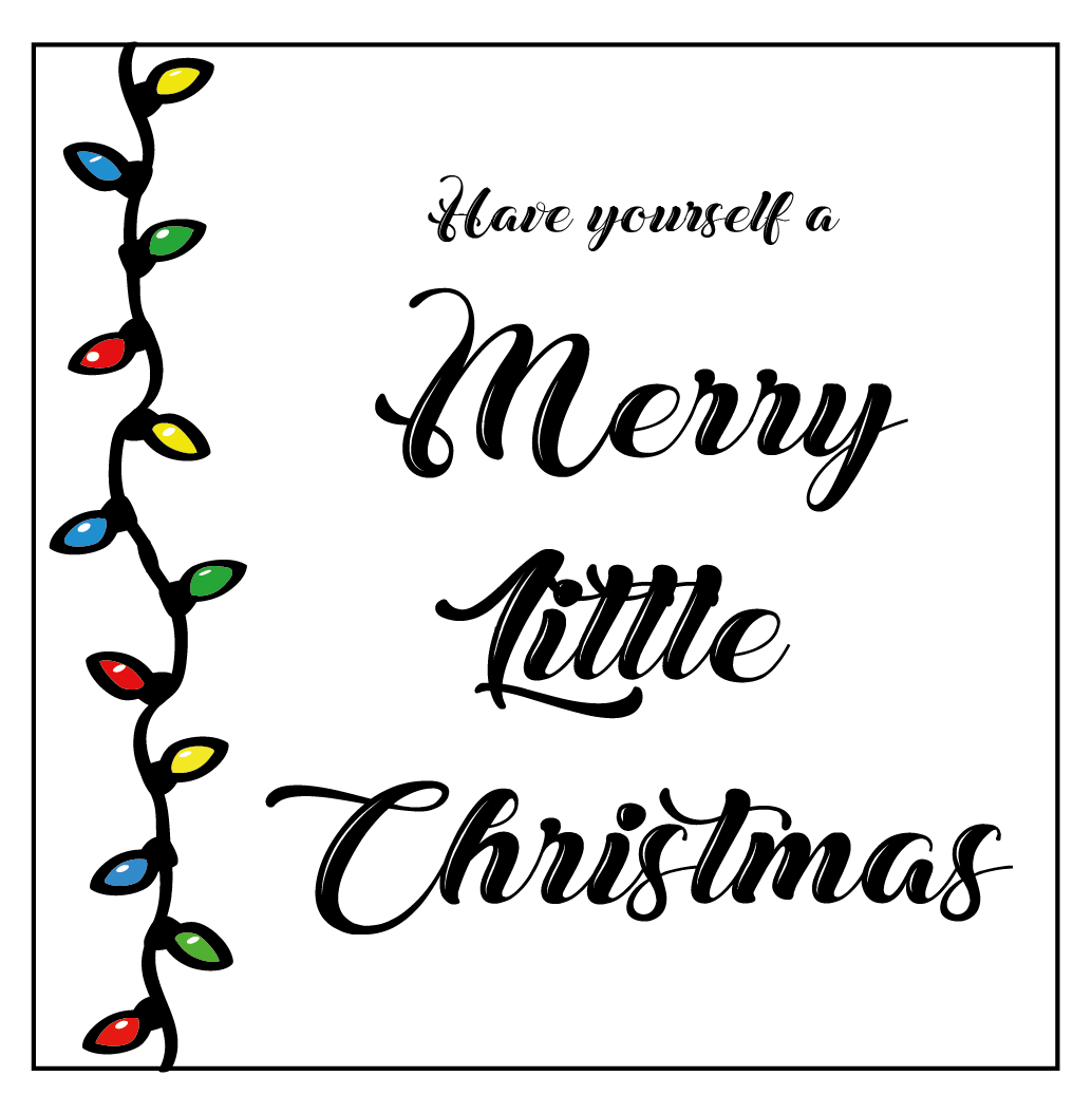 Merry Little Christmas Themed Stickers