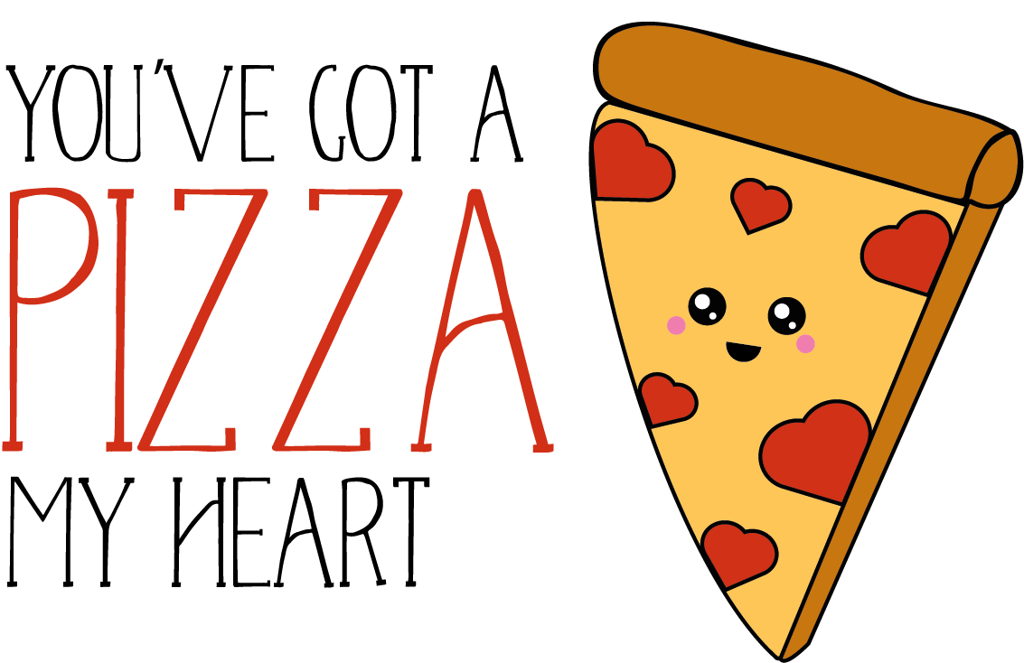 You've Got A Pizza My Heart Valentines Day Themed Stickers
