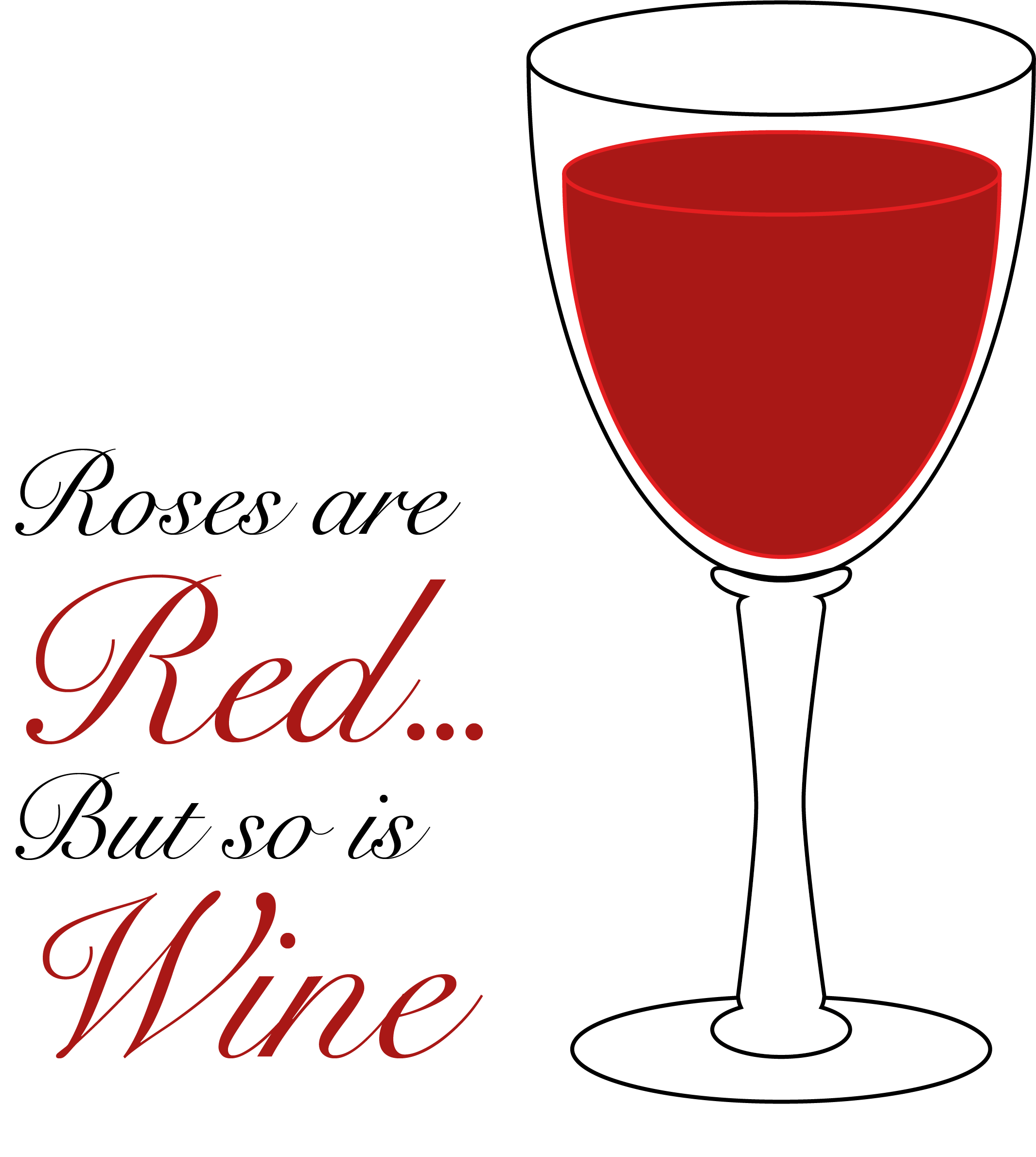 Roses Are Red...But So Is Wine Valentines Day Themed Stickers