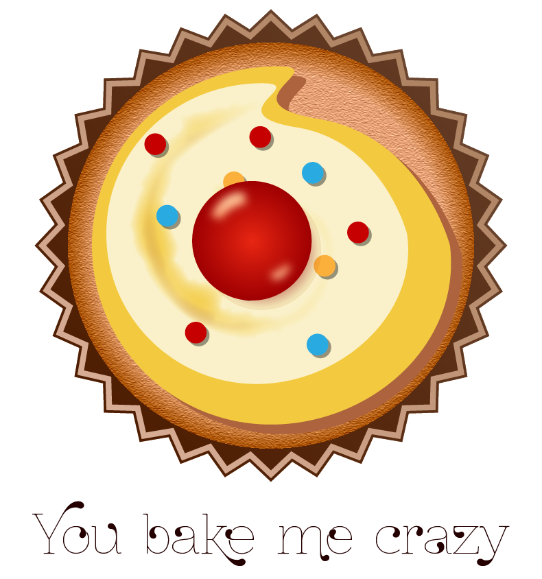 You Bake Me Crazy Yellow Valentines Day Themed Stickers