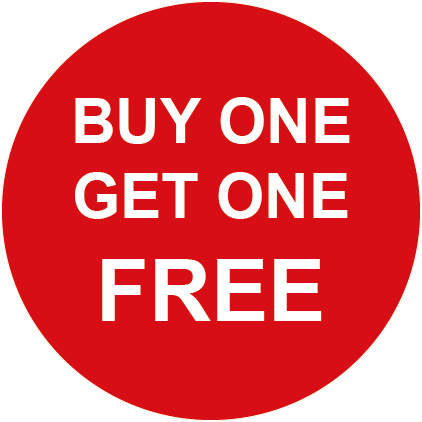 Buy One Get One Free Round Labels
