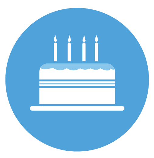 Cake blue Birthday Themed Stickers