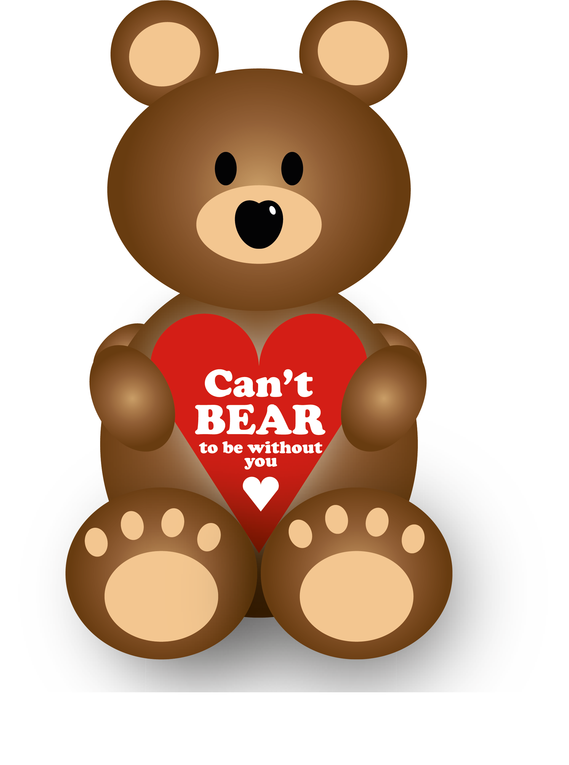 Can't Bear To Be Without You Valentines Labels