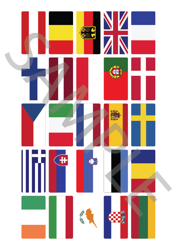European Country Flags Selection