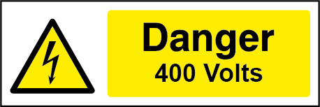 400 Volts Rectangle Electrical Labels