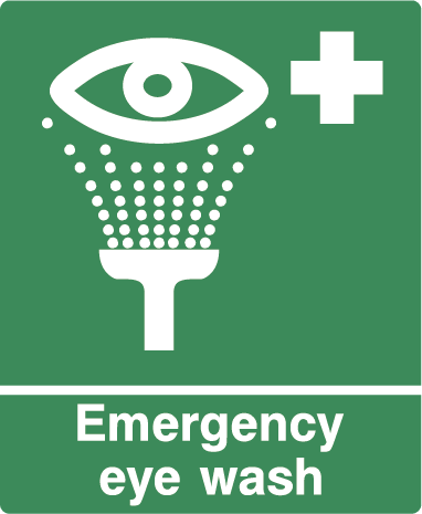 Emergency Eye Wash First Aid Rectangle Labels