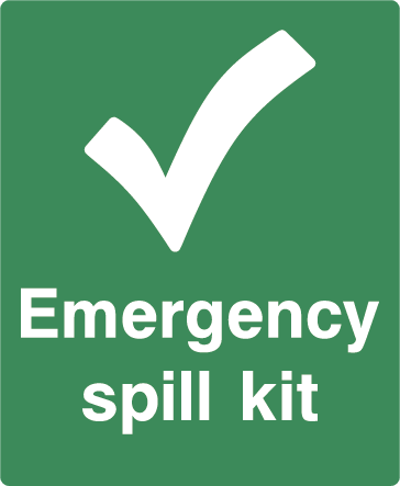 Emergency Spill Kit First Aid Rectangle Labels