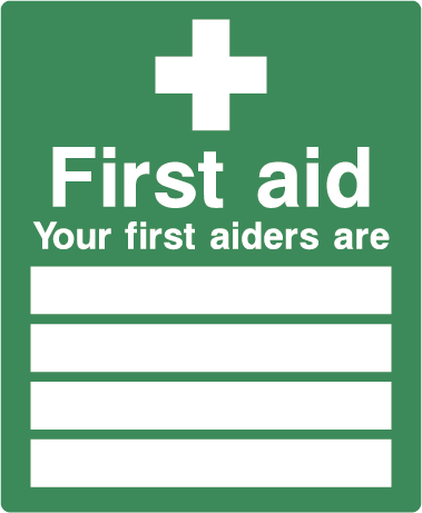 First Aiders Rectangle Label
