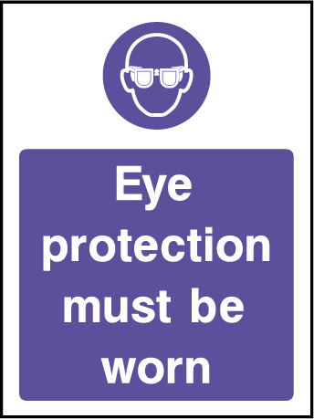 Eye Protection Mandatory Rectangle Labels