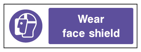 Wear Face Shield Mandatory Rectangle Labels