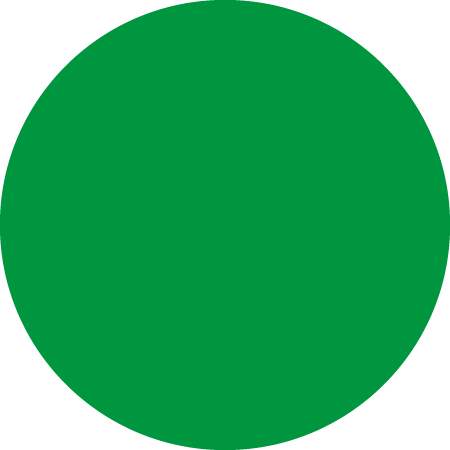 Green Dot Identification Round Labels