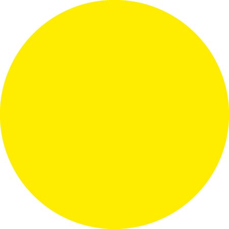 Yellow Dot identification Round Labels