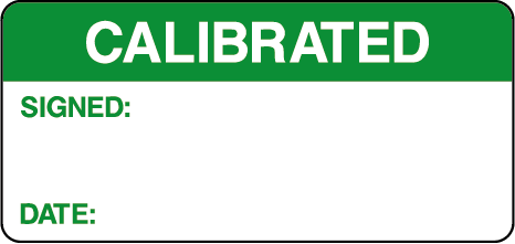 Calibrated Signed Date Calibration Rectangle Labels
