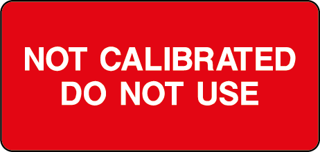 Not Calibrated Do Not Use Rectangle Labels
