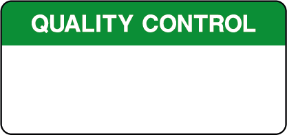 Blank Quality Control Inspection Labels