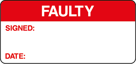 Faulty Signed Date Quality Control Inspection Labels