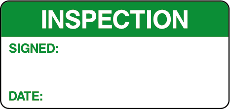 Inspection Signed Date Quality Control Labels