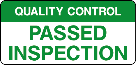 Quality Control Passed Inspection Labels