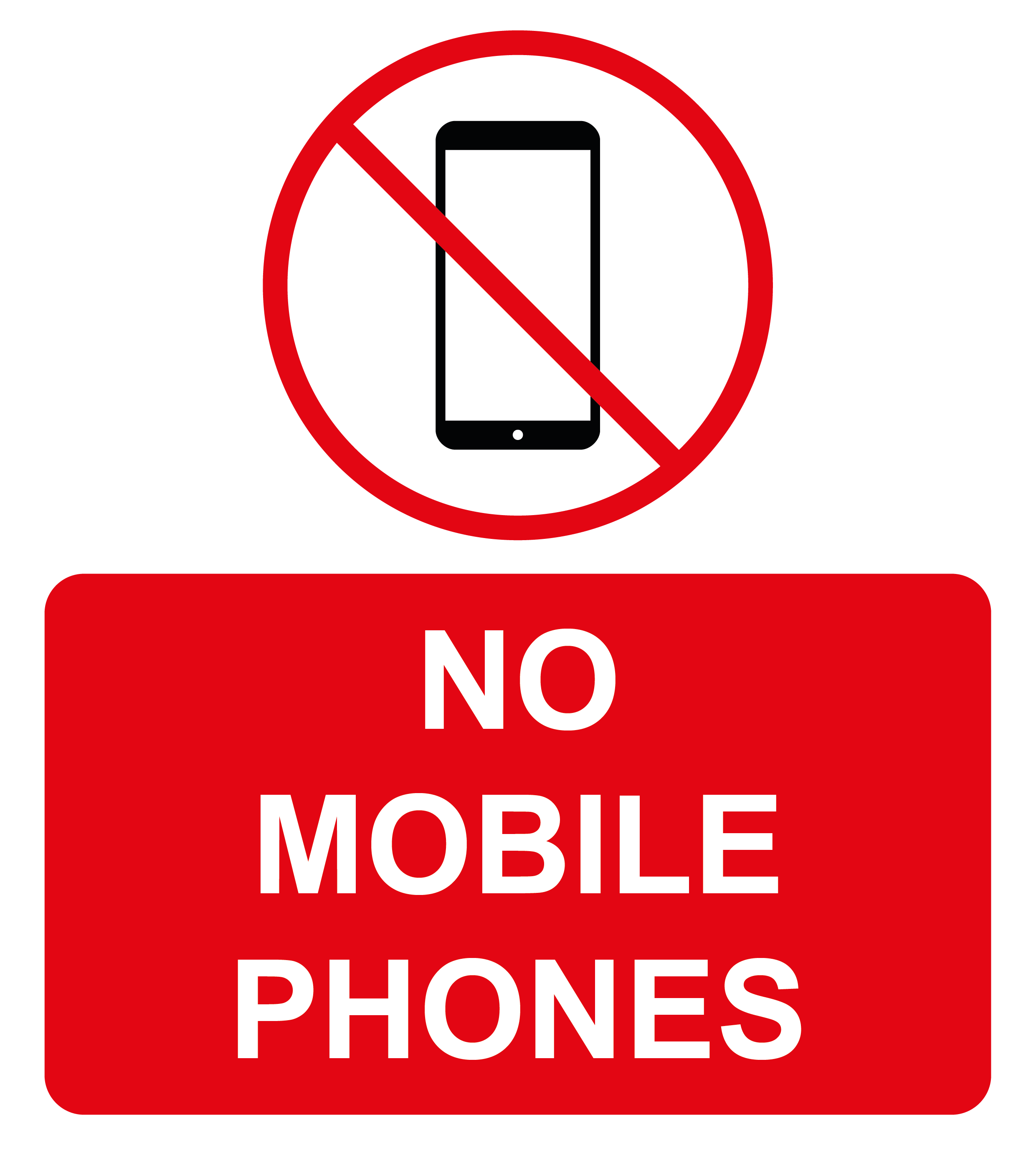 No mobile phones labels