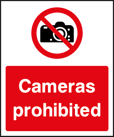 Cameras Prohibition Rectangle Labels