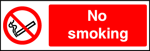 No Smoking Prohibition Rectangle Labels